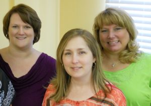 From left to right: Sheana Richardson, Au.D. Caroline Zuck, Au.D. Leigh Ann Burke, BC-HIS
